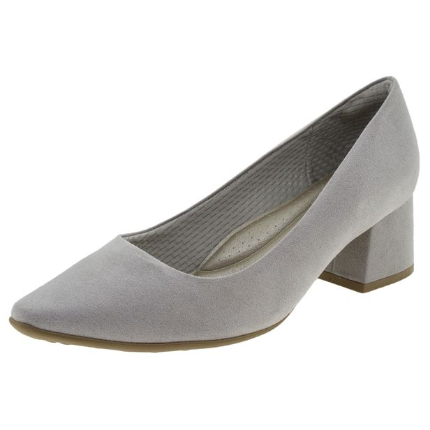 bd072dd67f Sapato Feminino Salto Baixo Cinza Piccadilly - 744054 - cloviscalcados
