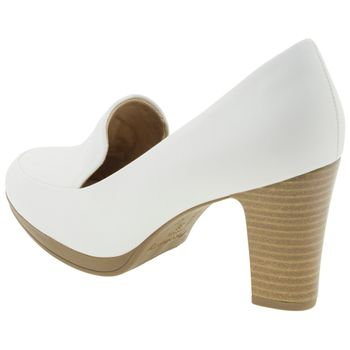 5b96c77b6 Sapato Feminino Salto Alto Branco Piccadilly - 130189 - cloviscalcados
