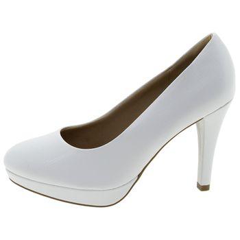 c104e89ac Sapato Feminino Salto Alto Branco Piccadilly - 841029 - cloviscalcados