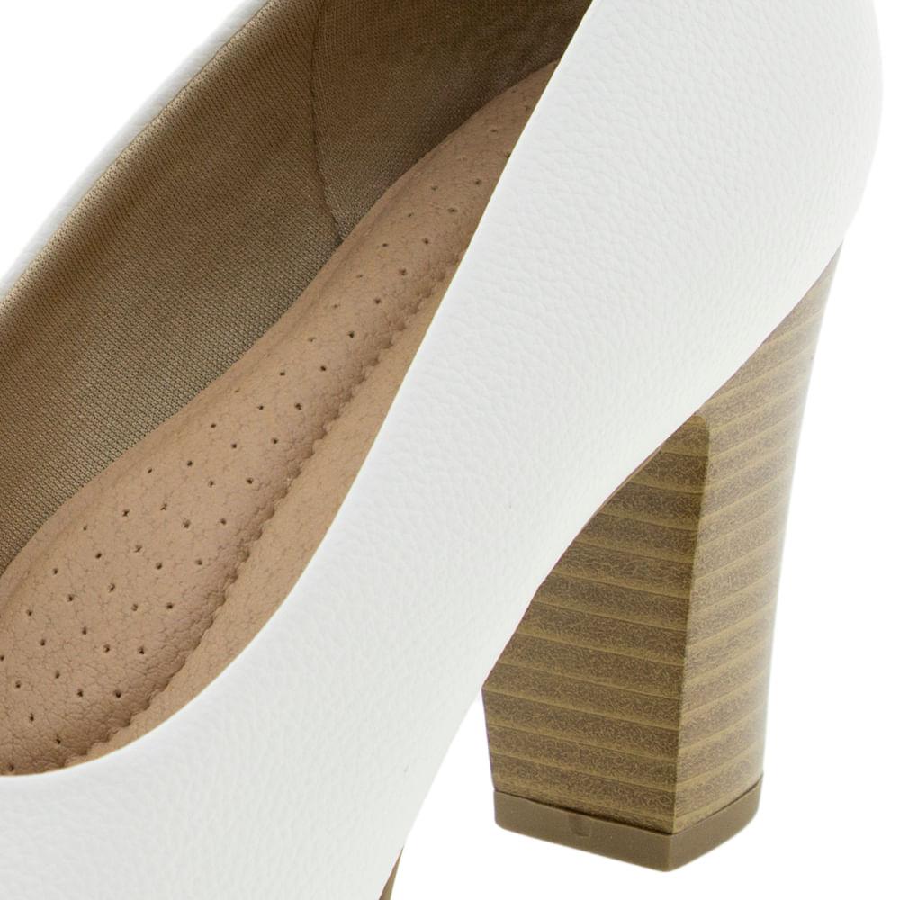 4395b2977 Sapato Feminino Salto Alto Branco Piccadilly - 130185 - cloviscalcados