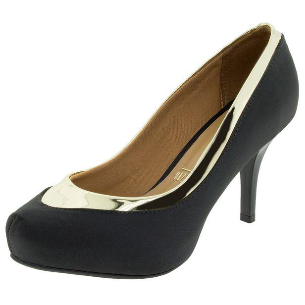 7d15ab24f Sapato Feminino Salto Alto Preto Vizzano - 1781458 - cloviscalcados