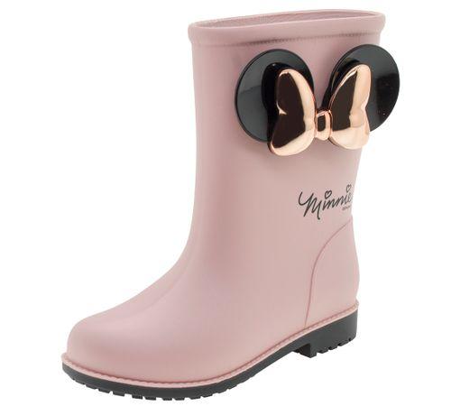 18510874c4339 Bota Infantil Feminina Minnie Fashion Rose Grendene Kids - 21753 ...