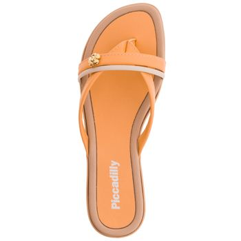 Sandalia-Feminina-Rasteira-Laranja-Piccadilly---401163-04