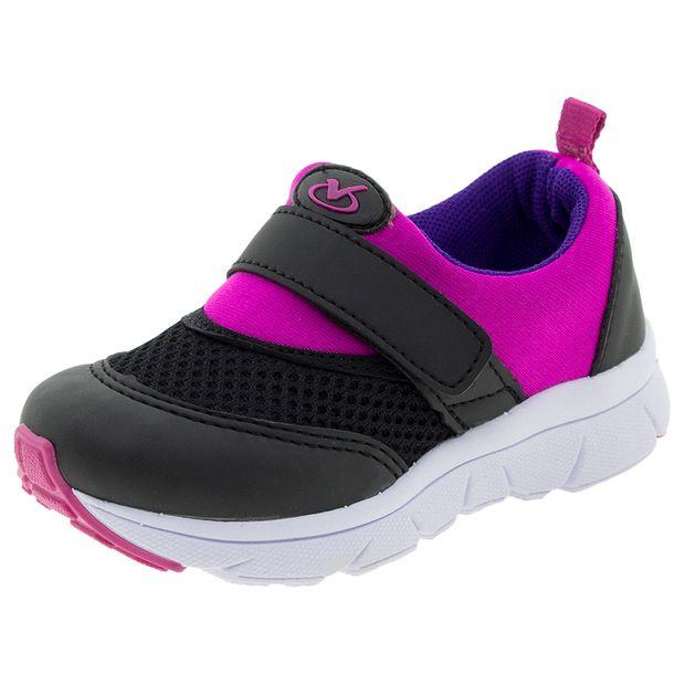 Tenis-Infantil-Feminino-Pink-Preto-Via-Vip---VV1054-01