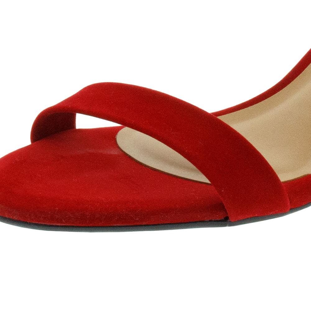 8d1933490 Sandália Feminina Salto Baixo Vermelha Vizzano - 6291125 - cloviscalcados