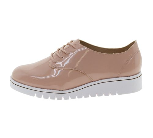 02fbd2f6b Sapato Feminino Oxford Rosa Branco Beira Rio - 4174101 - cloviscalcados