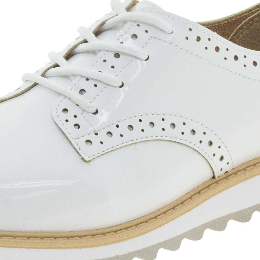 65ec574fc Sapato Infantil Feminino Oxford Branco Molekinha - 2510418 - cloviscalcados