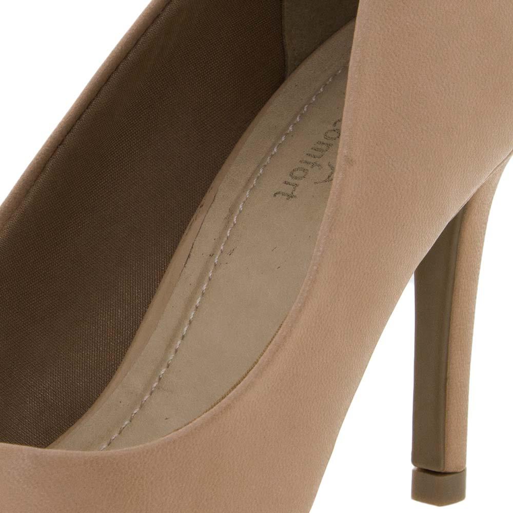 63fe2df0b2 Sapato Feminino Scarpin Amêndoa Ramarim - 1623101 - cloviscalcados