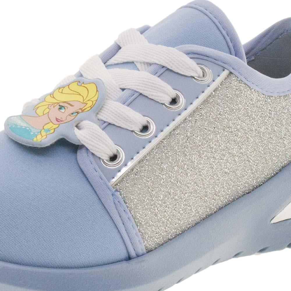 b5e8e571d7 Tênis Infantil Feminino Frozen Azul Prata Grendene Kids - 21810 -  cloviscalcados