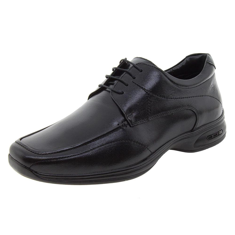 82ccc0229 Sapato Masculino Social 3D Preto/Cadarço Jota Pe - 30003 ...