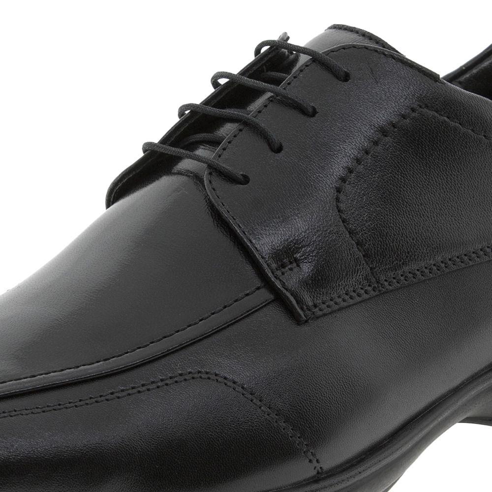 58d74a1cc7 Sapato Masculino Social 3D Preto Cadarço Jota Pe - 30004 - cloviscalcados