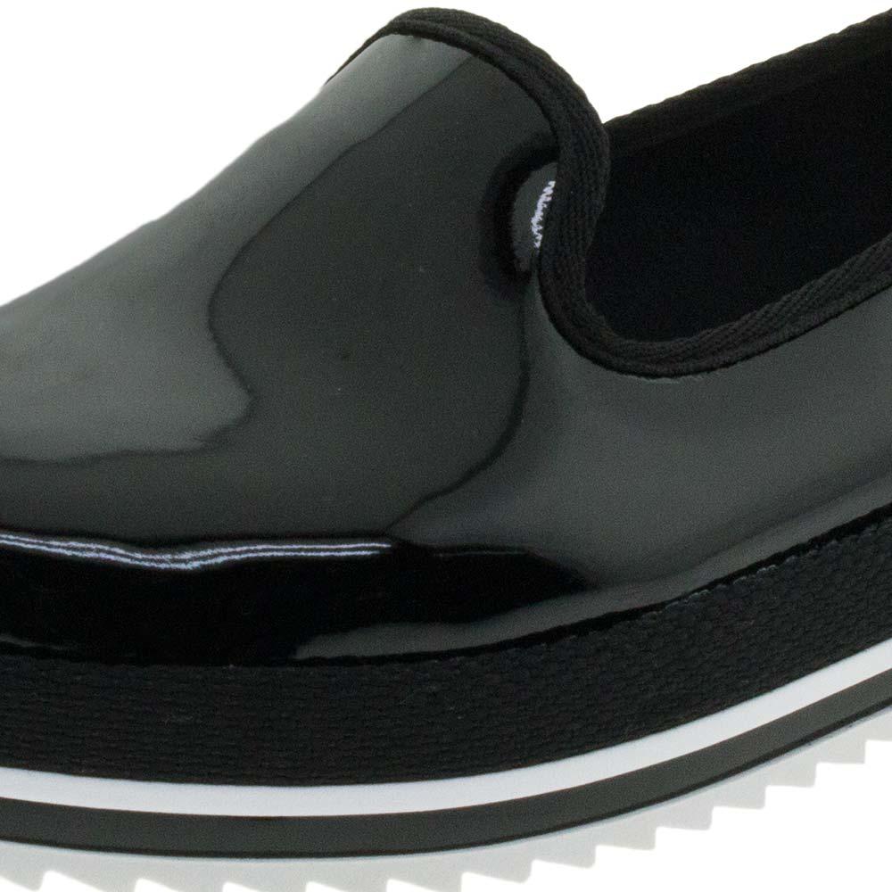e38ecc887 Sapato Feminino Flatform Verniz Preto Beira Rio - 4196300 - cloviscalcados