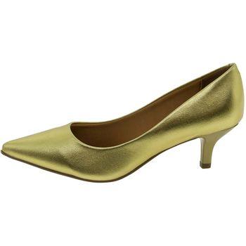 b00cf37fda Sapato Feminino Salto Baixo Dourado Vizzano - 1122600 - cloviscalcados