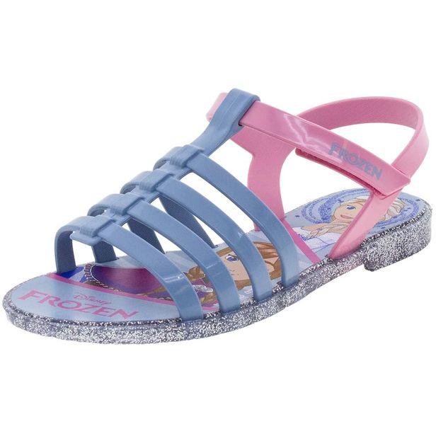 bcf20f1f07 Sandália Infantil Feminina Frozen Azul Prata Grendene Kids - 21890 ...