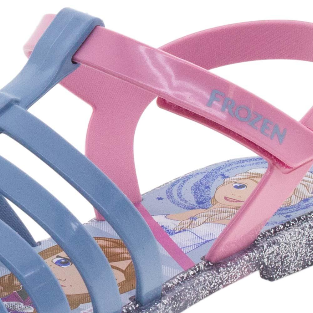 6ba938cf0b Sandália Infantil Feminina Frozen Azul Prata Grendene Kids - 21890 -  cloviscalcados