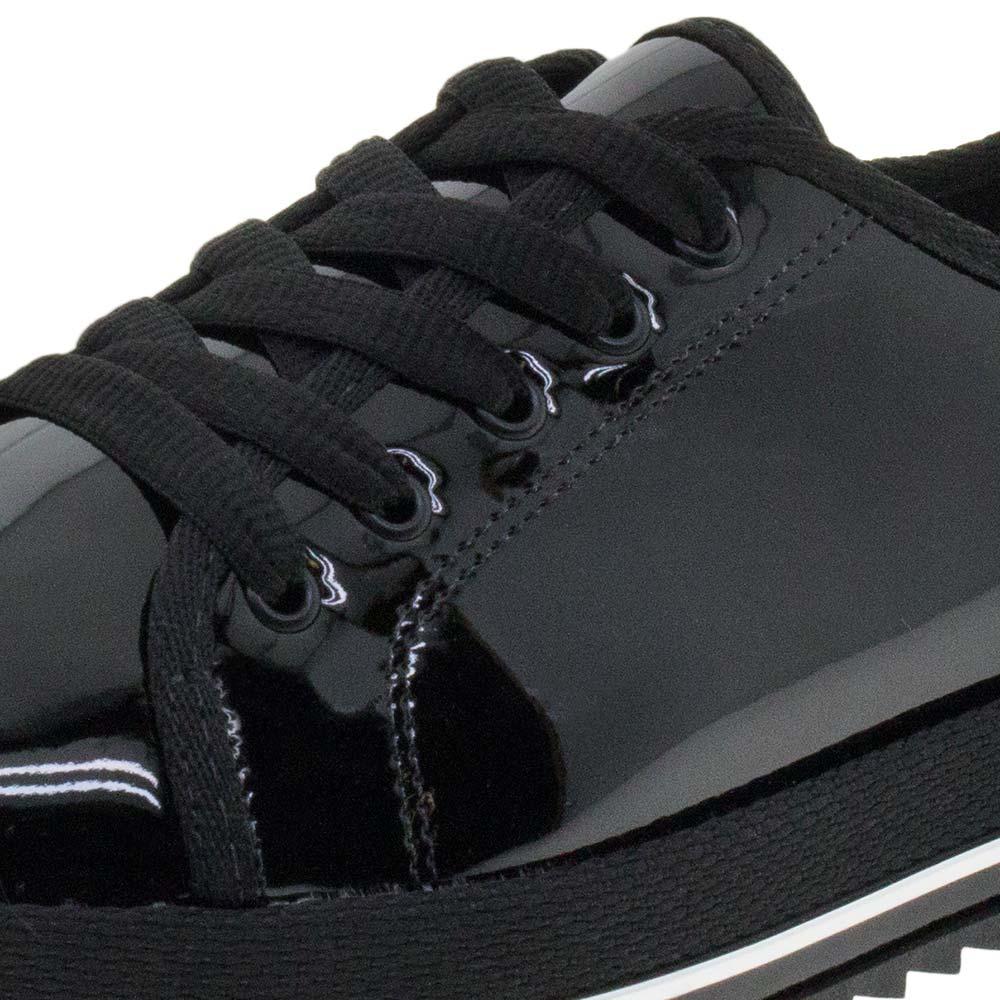 7bf4b090e70 Sapato Feminino Preto Prata Beira Rio - 4196203 - cloviscalcados