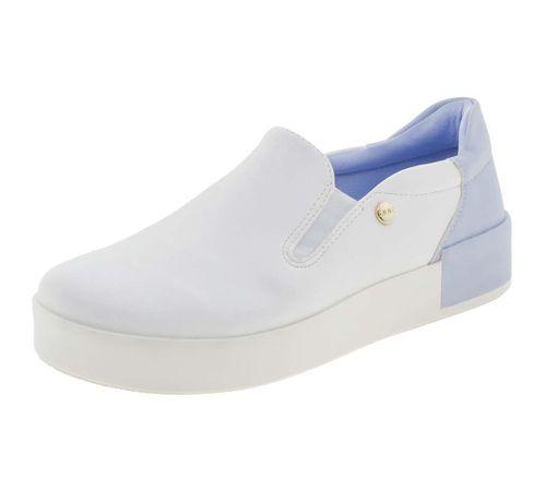 5535b9f4d56 Tênis Feminino Casual Branco Azul Quiz - 6840904 - cloviscalcados