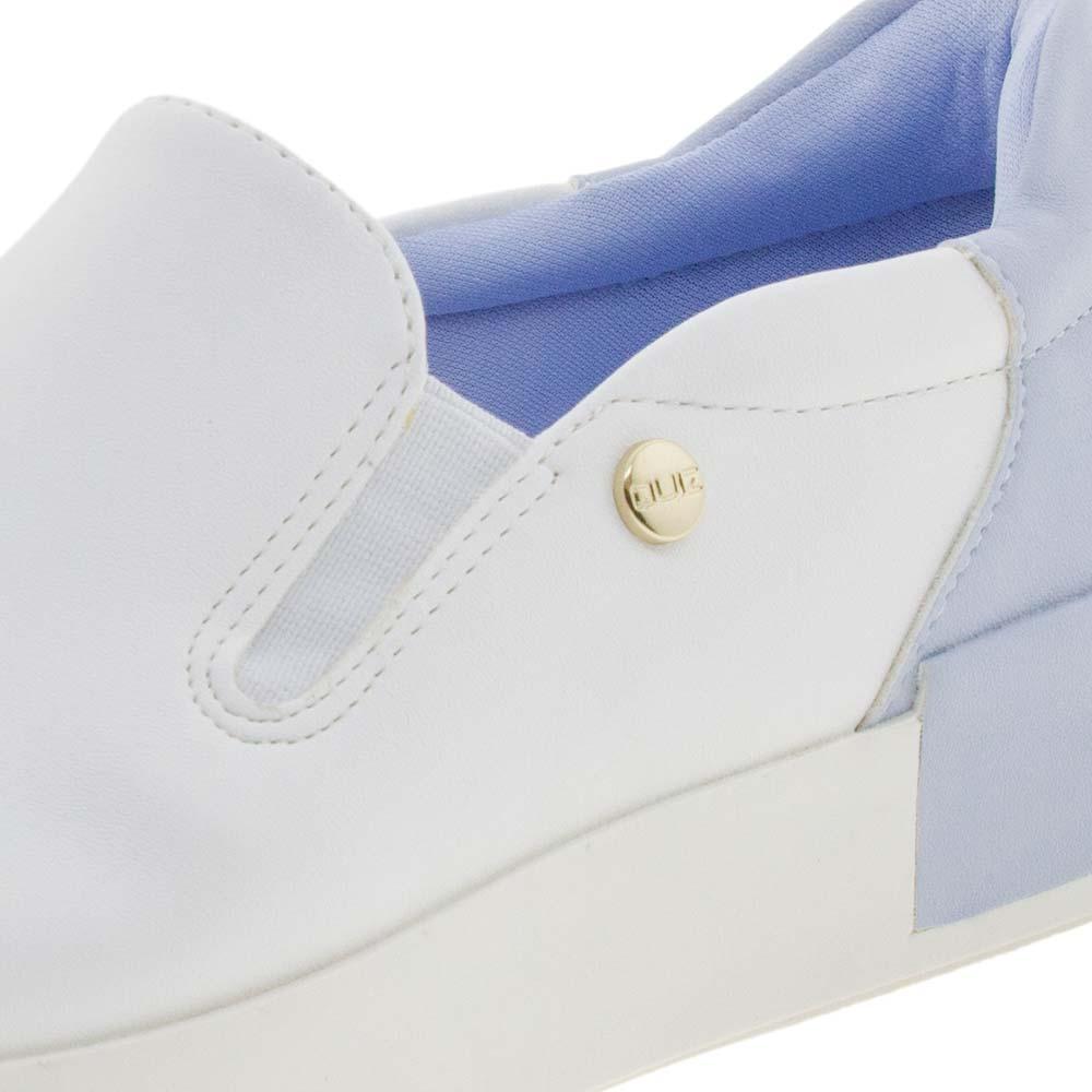 9a5bcabca75 Tênis Feminino Casual Branco Azul Quiz - 6840904 - cloviscalcados