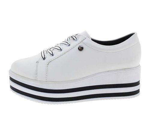 65f61c7683f Tênis Feminino Flatform Branco Quiz - 6865103 - cloviscalcados