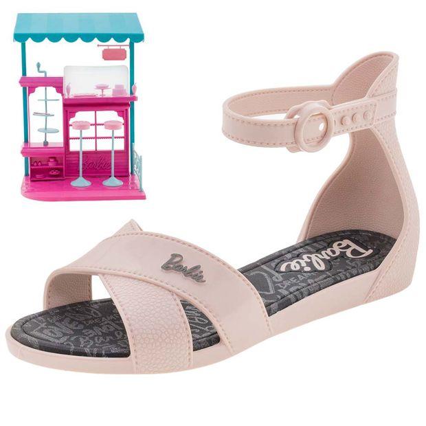 dd5e13386 Sandália Infantil Feminina Barbie Confeitaria Pink Grendene Kids ...