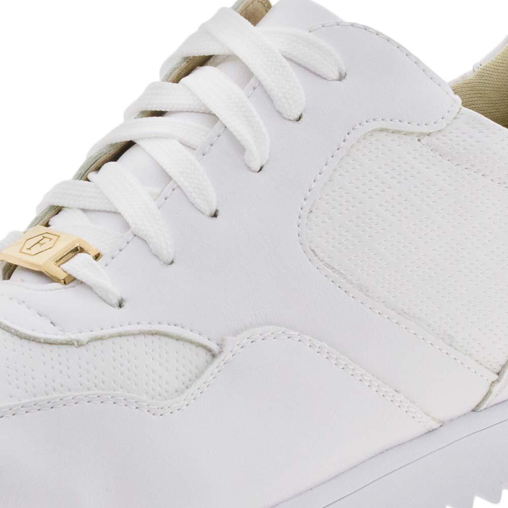 ab6addcfe6f59 Tênis Feminino Casual Branco Off Facinelli - 52013 - cloviscalcados