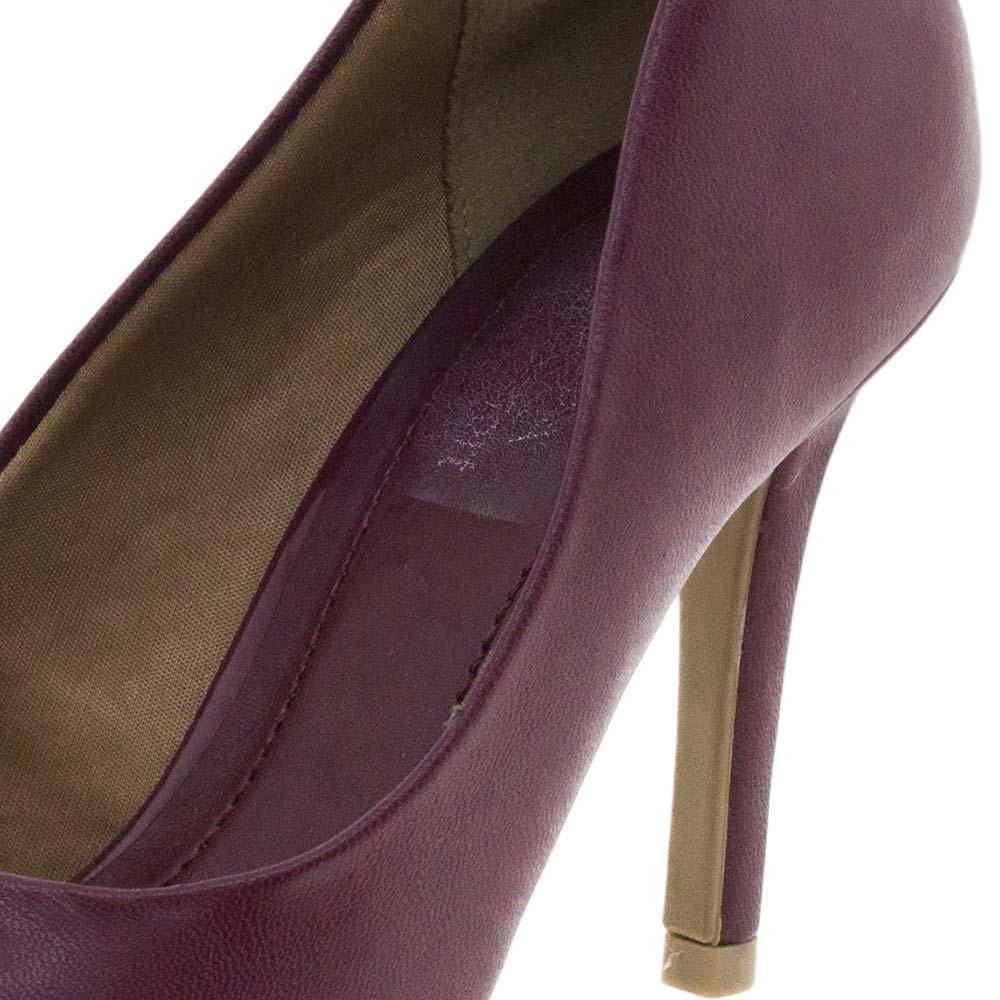 bd8c521fb Sapato Feminino Scarpin Bordô Ramarim - 1623101 - cloviscalcados