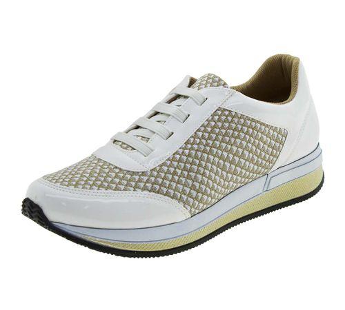Tênis Feminino Branco Piccadilly - 973016 - cloviscalcados 941ee84473790