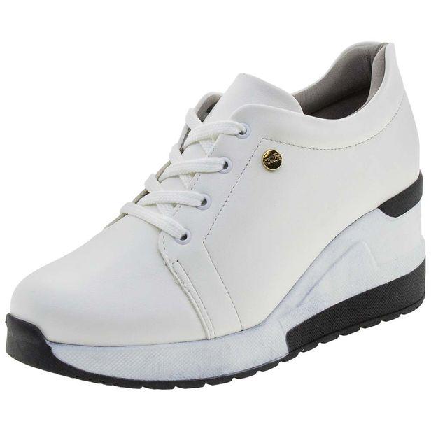 61ddcd5062c Tênis Feminino Sneaker Branco Quiz - 6837915 - cloviscalcados