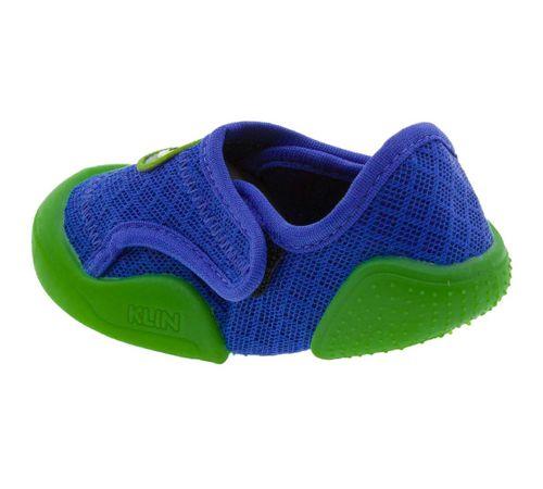Tênis Infantil Baby New Confort Azul Verde Klin - 179006 ... f257e11fd990e