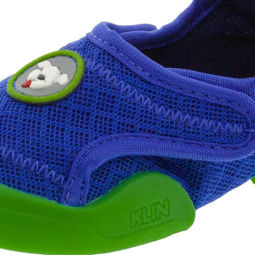 Tênis Infantil Baby New Confort Azul Verde Klin - 179006 - cloviscalcados 9a8123c89981e