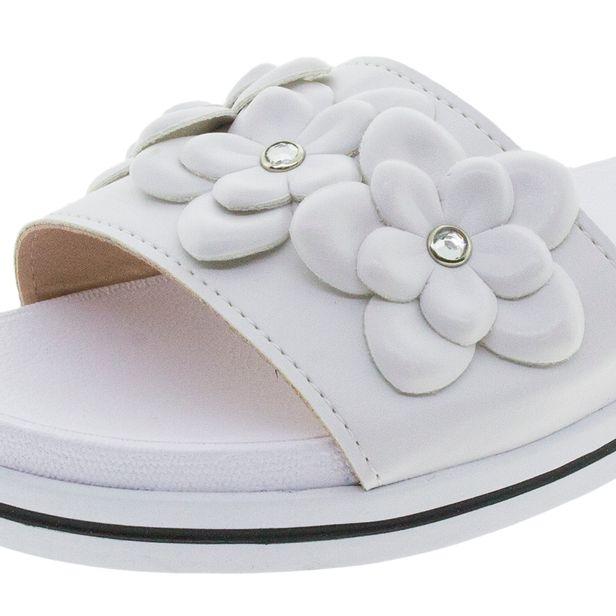 a8fb1657ae Chinelo Feminino Slide Branco Azaleia - 345471 - cloviscalcados