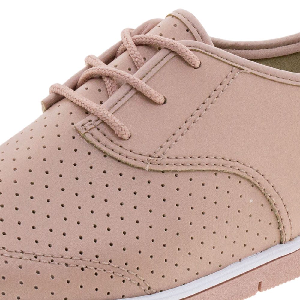 7e58515c15 Sapato Feminino Oxford Rosa Moleca - 5613304 - cloviscalcados