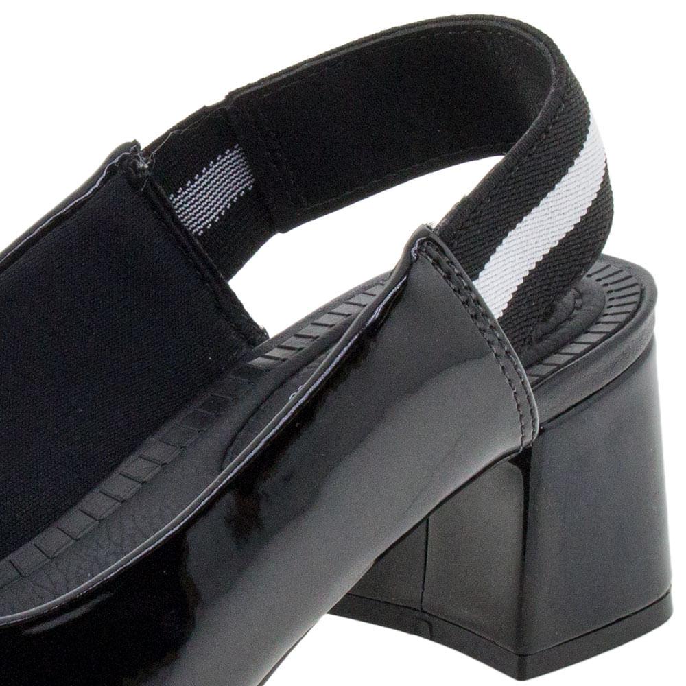 968126fcc0 Sapato Feminino Salto Baixo Verniz/Preto Modare - 7332102 - cloviscalcados