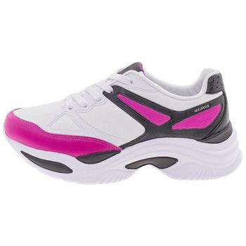 be25c9fd7 Azaleia. Tênis Feminino Chunky Trainer Preto/Pink Azaleia - 885/523