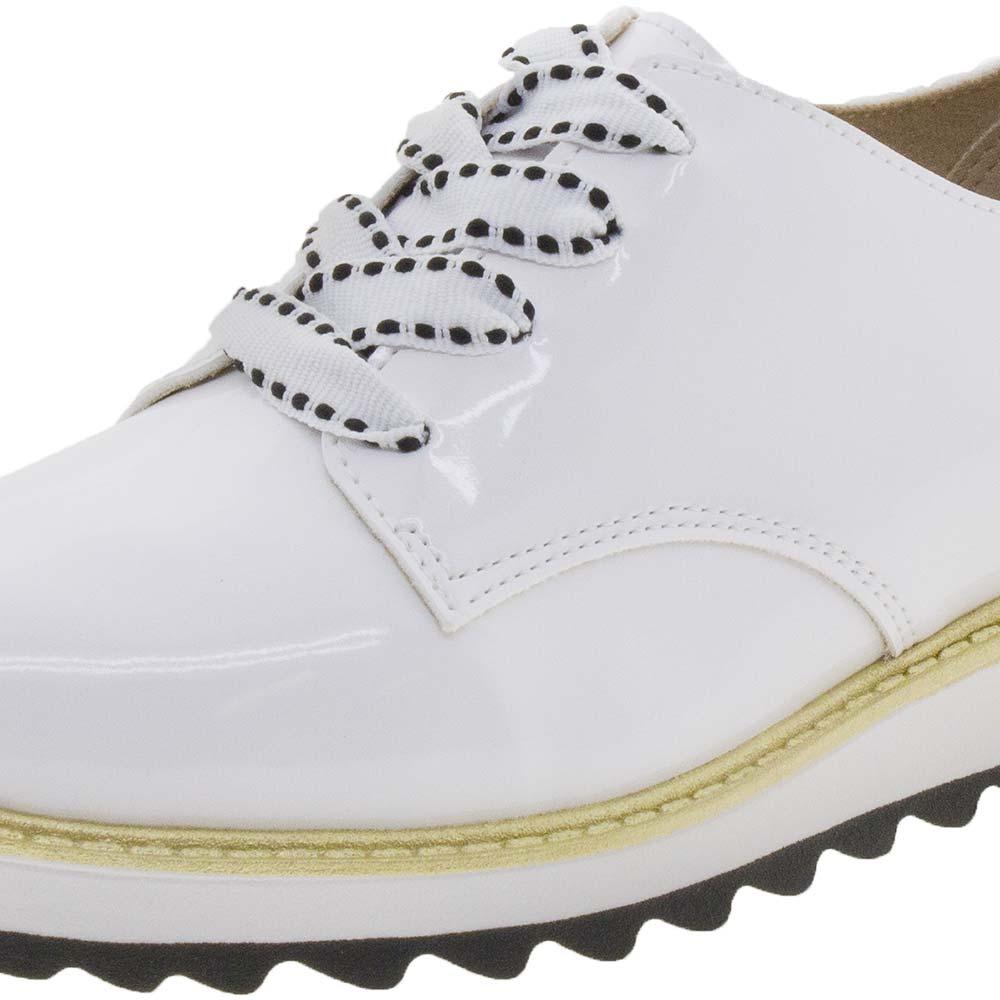 b0c0e3524 Sapato Infantil Feminino Oxford Branco Molekinha - 2510416 - cloviscalcados