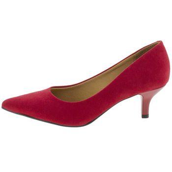 a9e0181207 Vizzano. Sapato Feminino Scarpin Salto Baixo Vermelho Vizzano - 1122600