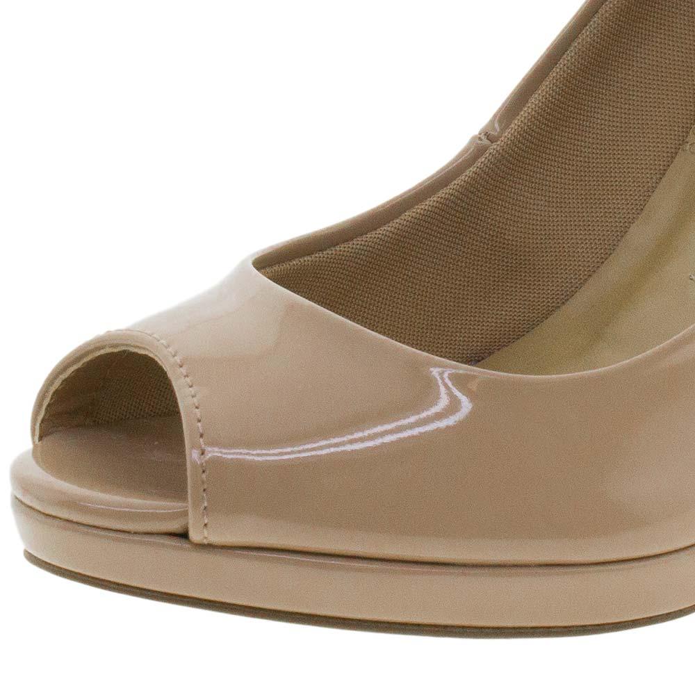 7dc3de104 Peep Toe Feminino Salto Alto Via Marte - 161507 - cloviscalcados