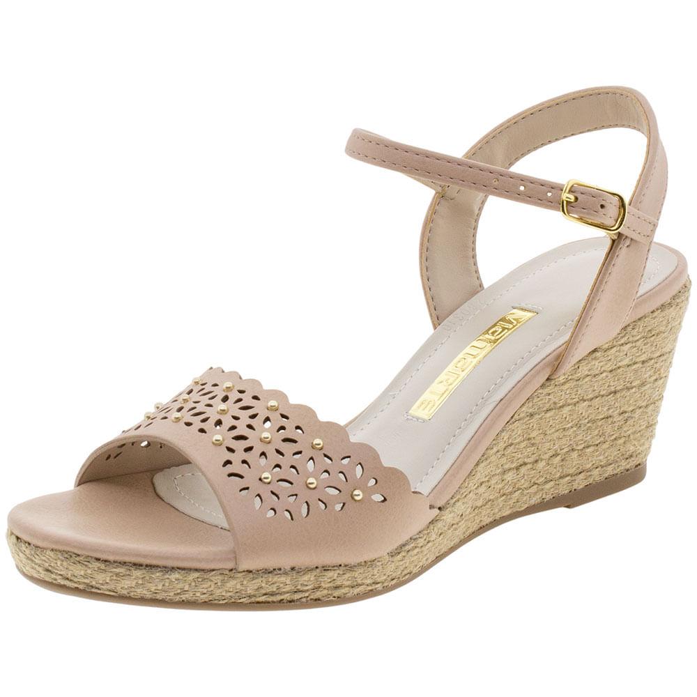 16c3e4530 Sapato Feminino Oxford Bege Via Marte   Promoção   Lojas Clovis ...