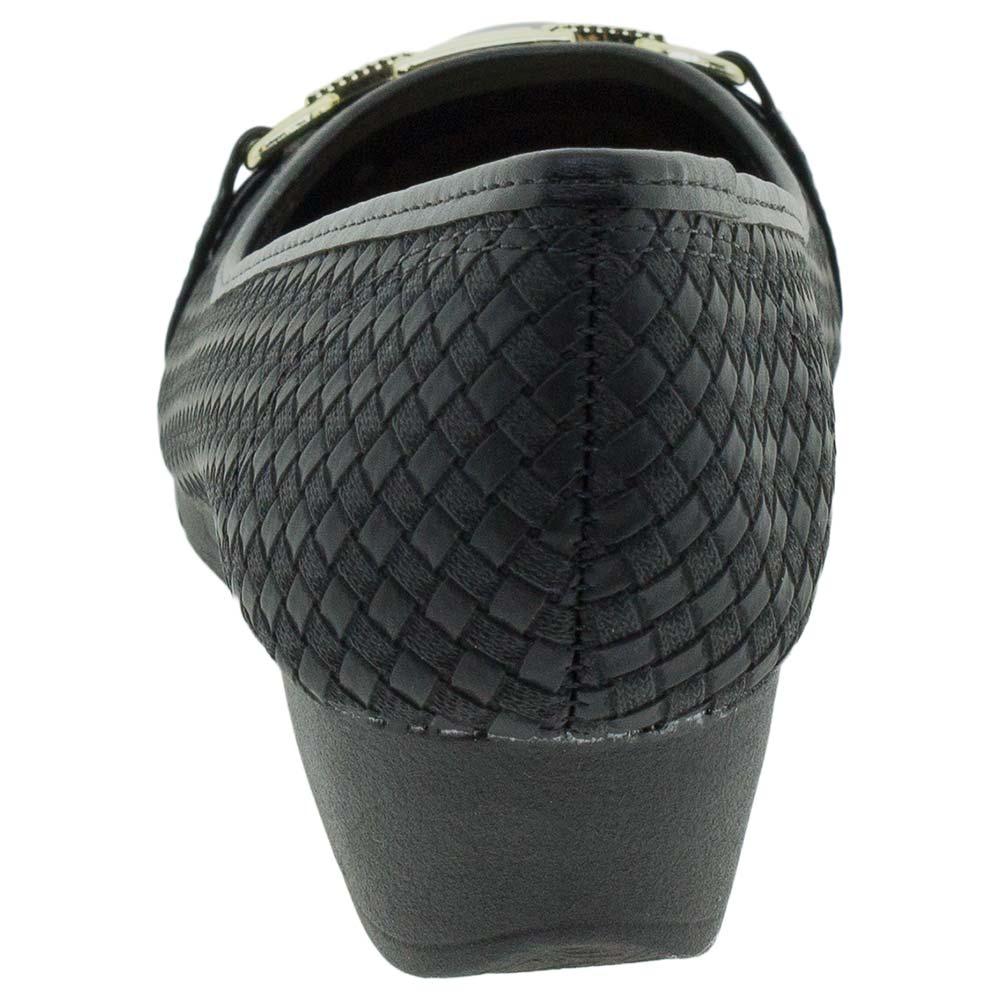e3b95a4e5 Sapato Feminino Anabela Moleca - 5156452 Verniz/preto - cloviscalcados