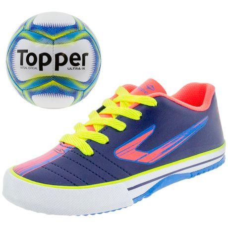 Kit-Tenis-Infantil-Masculino-Futsal-Recreio-Topper-Bola-De-Futsal-Toper-4200430-01