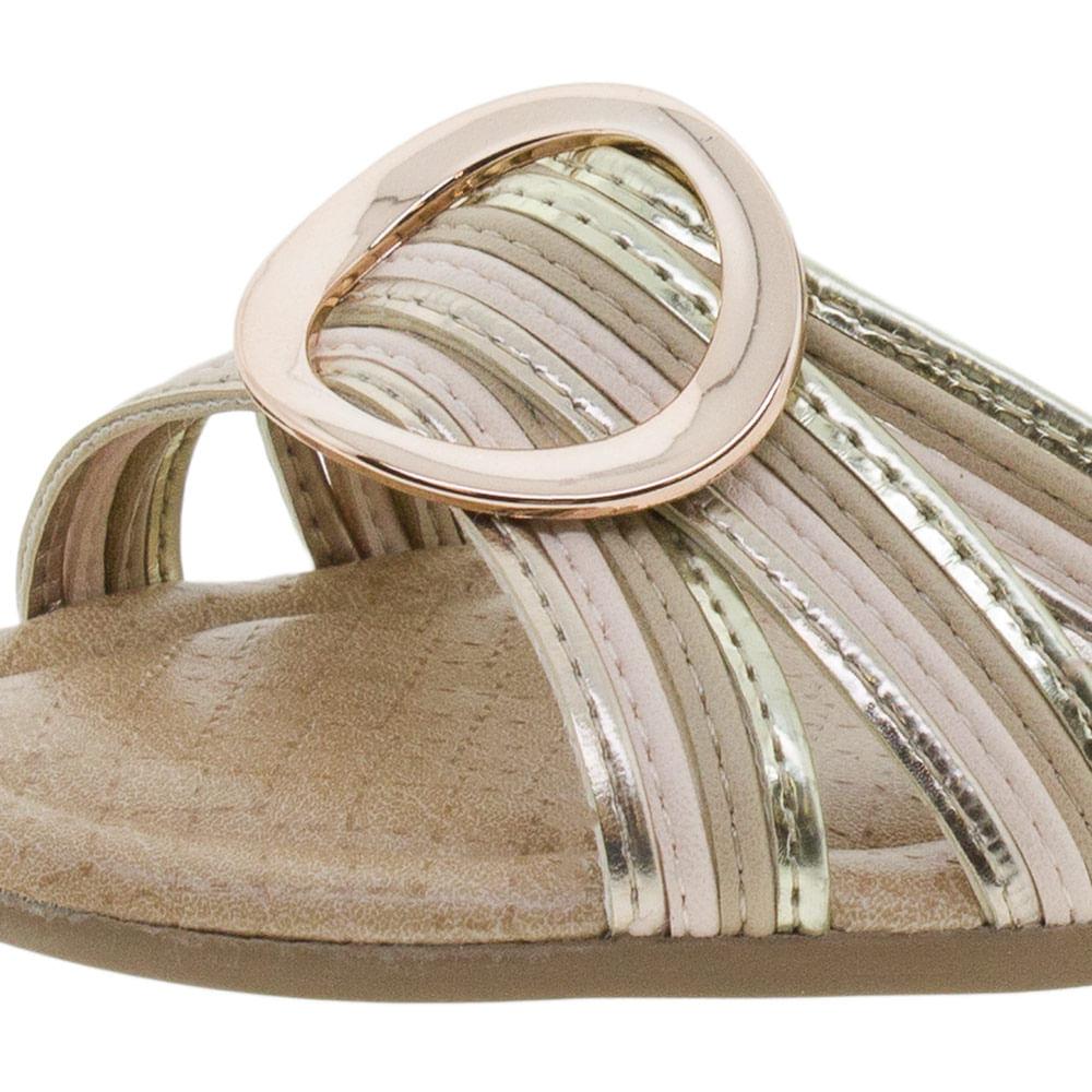 efb642d38c Sandália Feminina Anabela Mississipi - X8453 Bronze - cloviscalcados