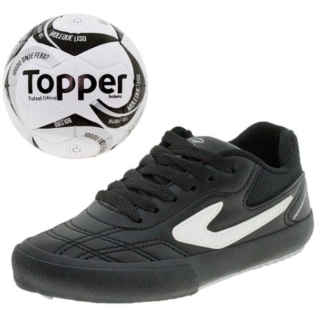 Kit-1-Chuteira-Iinfantil-Masculina-Dominator-Jr-III-Topper-Meiao-Toper-Bola-Futsal-Toper-4132752-01