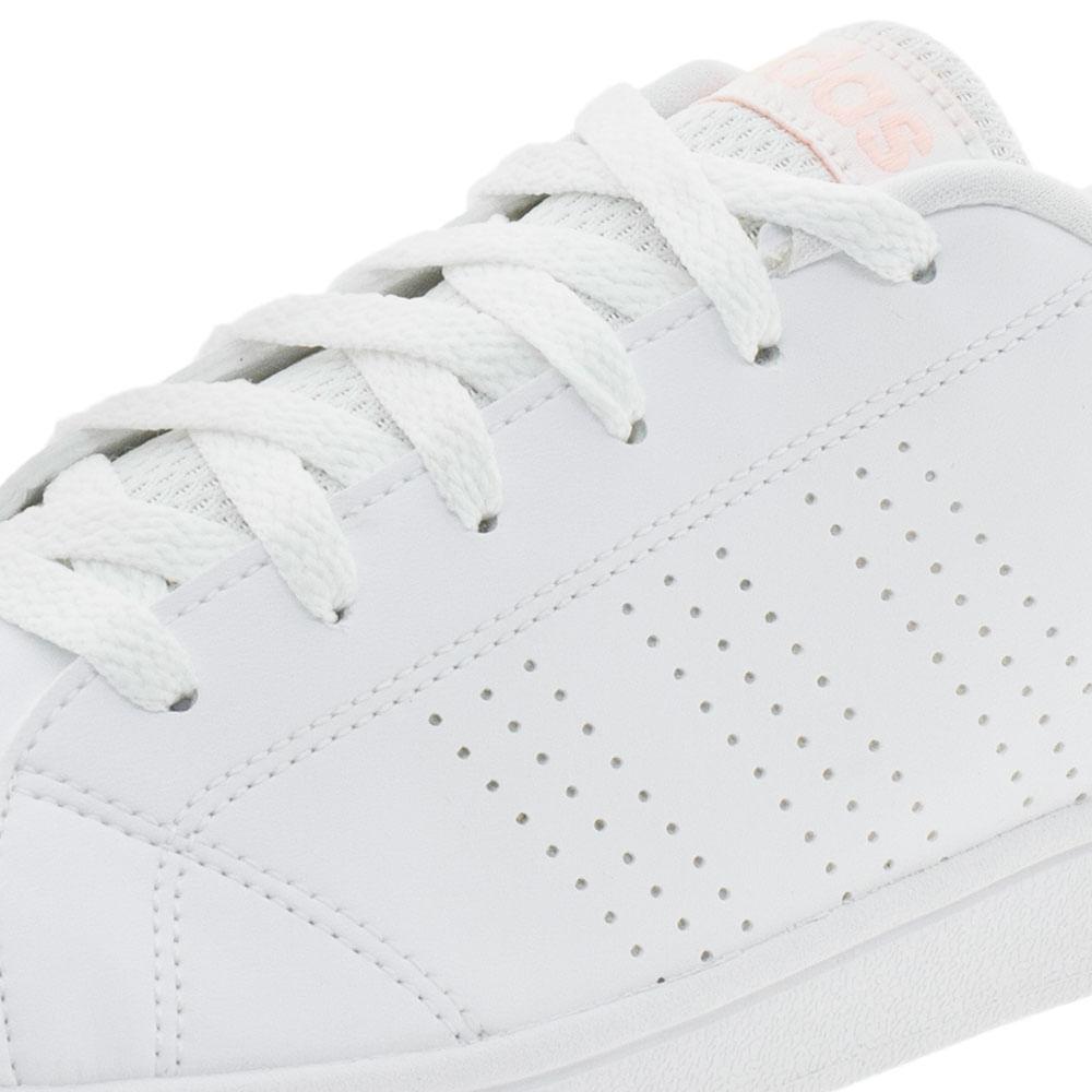 7feffcb8754 Tênis Feminino Vs Advantage Clean Adidas - BB9616 Branco rosa -  cloviscalcados