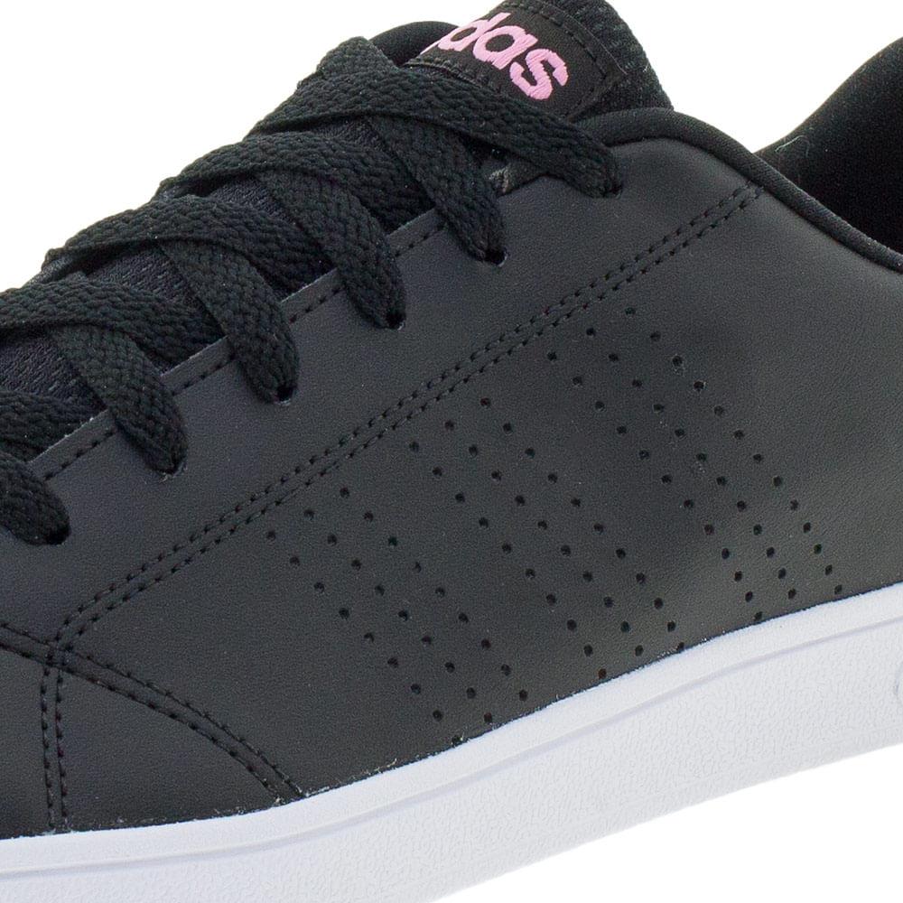 5c608a394 Tênis Feminino Vs Advantage Clean Adidas - BB9616 Preto rosa -  cloviscalcados