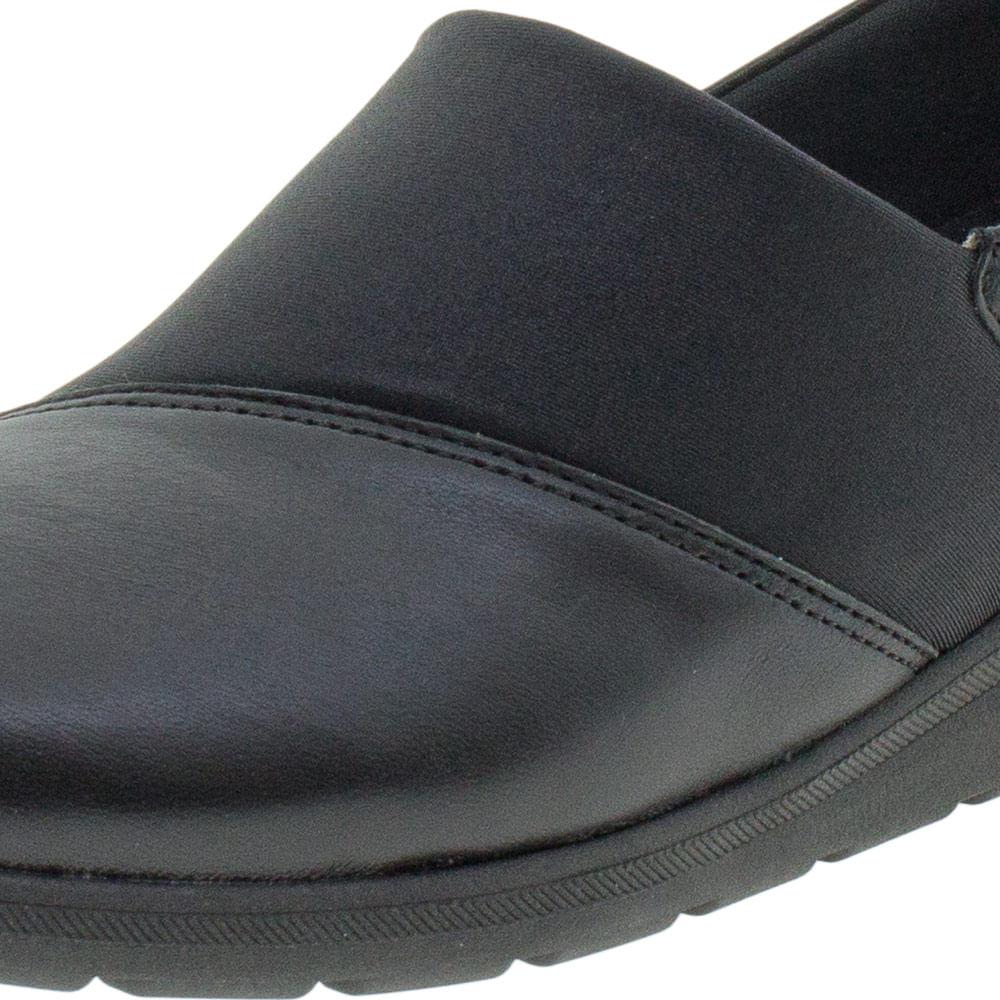 c6c5bc666 Sapato Feminino Salto Baixo Usaflex - Ab9503 Preto - cloviscalcados