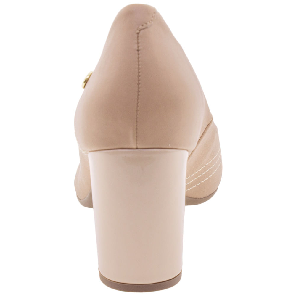 66cd4aa4b Sapato Feminino Salto Alto Via Scarpa - 124911888 Bege - cloviscalcados