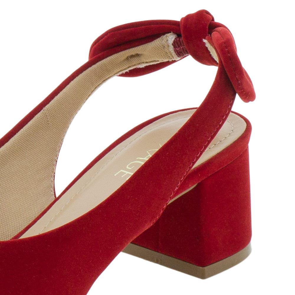 47b132a31f Scarpin Feminino Salto Médio Mixage - 4031117 Vermelho - cloviscalcados