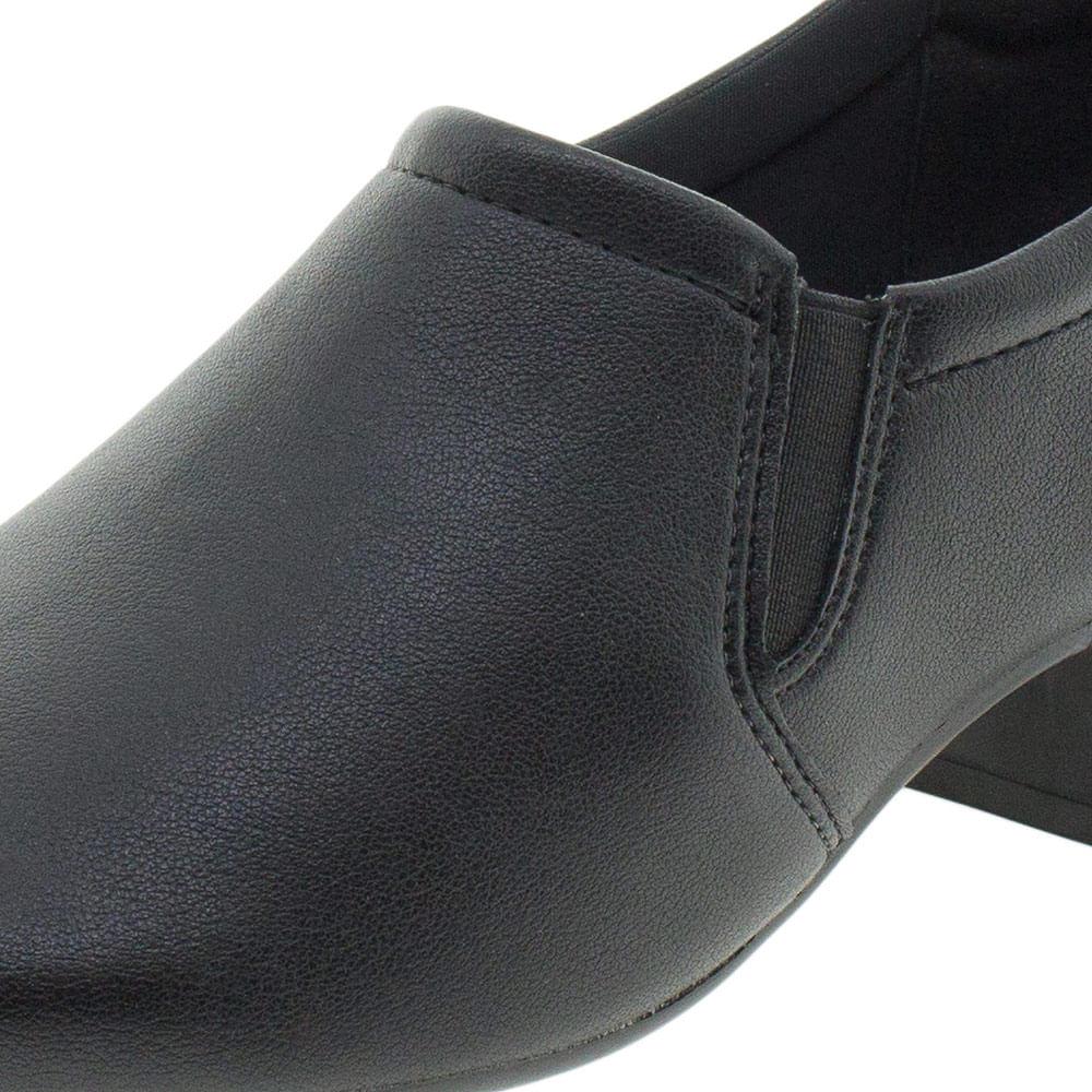 e62152947 Sapato Feminino Salto Baixo Comfortflex - 1886305 Preto - cloviscalcados