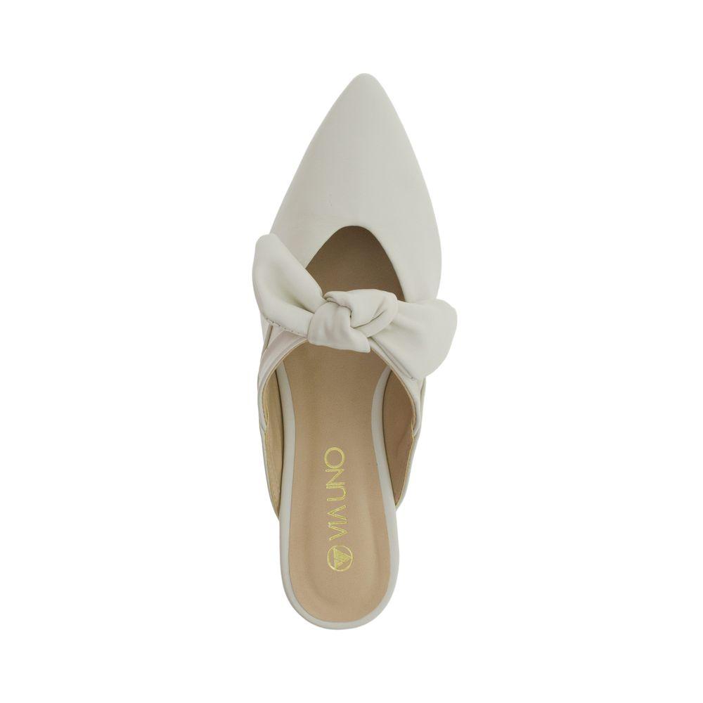 81a2d9396 Sapato Feminino Mule Via Uno - 116108 Marfim - cloviscalcados