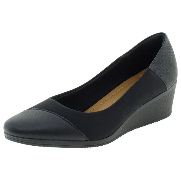 adb3881a0 Sapato Feminino Anabela Usaflex - Aa3810 Preto - cloviscalcados